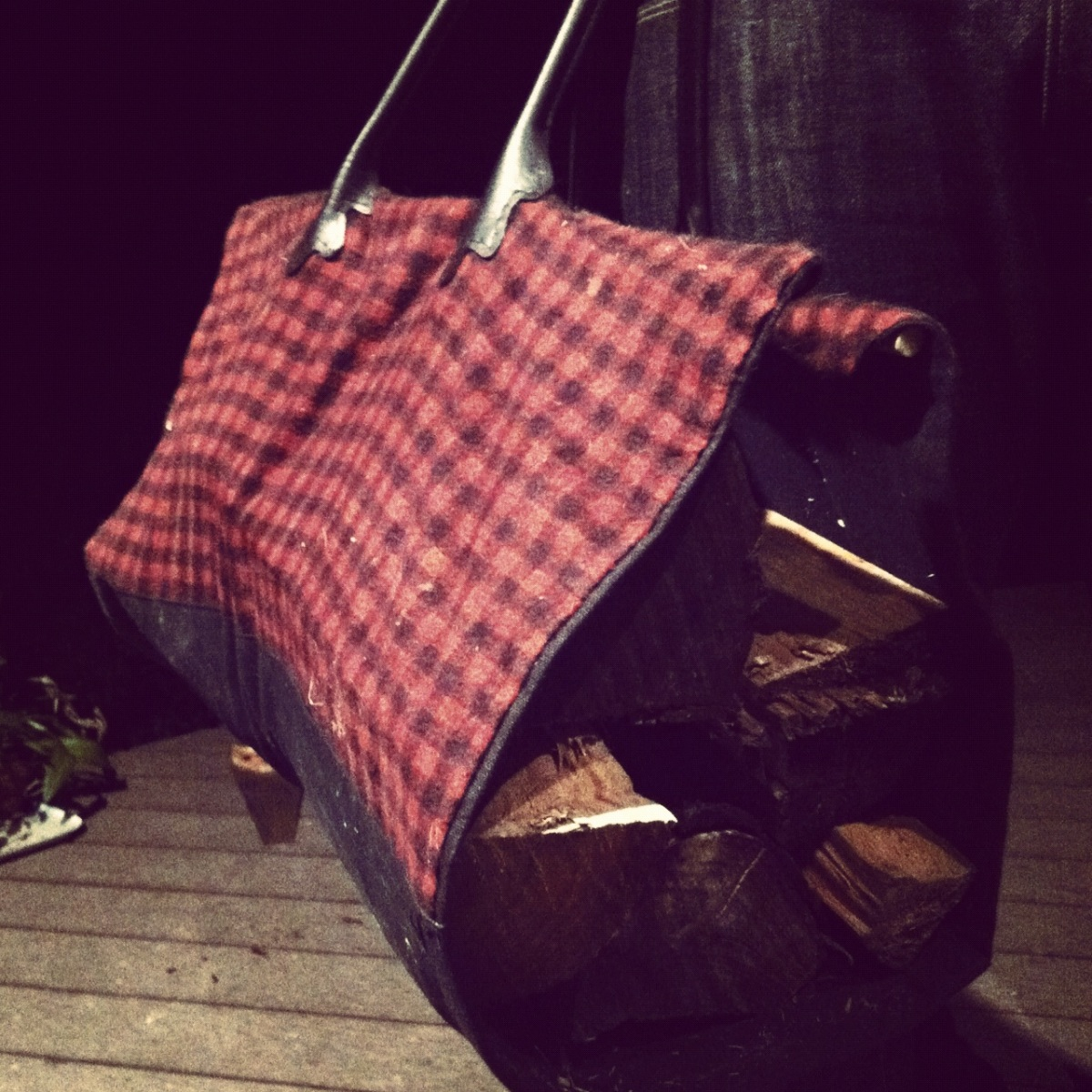 The Firewood Bag. Cotton and Canvas