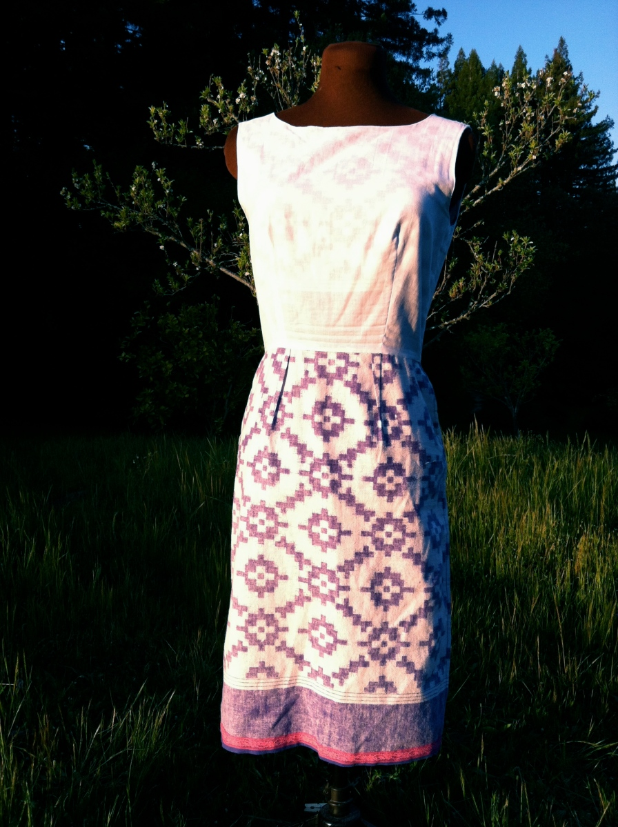 The Tribal Dress. Inside Lining Front. Size 6. SOLD.