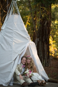 Our friends made us a teepee wedding suite!